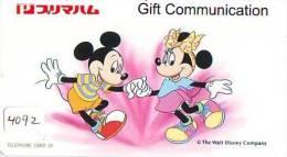 Télécarte JAPON DISNEY (4092)  PHONECARD JAPAN * TELEFONKARTE * 110-813 * Mickey Minnie & Canard Donald Duck - Disney