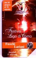Carte Téléphone ITALIE 5,00 € Festival Feux Lariani - Telefoonkaarten