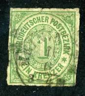 GS-527A)  NORTH GERMAN CONF.  1868  Mi.#7 / Sc.#7  Used - Conf. De Alemania Del Norte