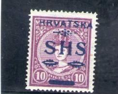 CROATIE 1918-9 * - Croatia