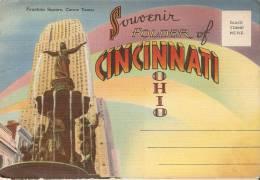 U.S.A . Folder Of CINCINNATI . Dépliant  20 Vues 10X15 Dont SUSIE World´s Only Trained Gorilla . 193? - Cincinnati