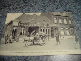 59 BELLE TOURCOING RISQONS TOUT UNE VISITE DE DOUANE AU BUREAU ATTELLAGE 1907 - Tourcoing