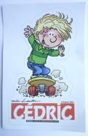 AUTOCOLLANT CEDRIC - JOURNAL SPIROU 2002 - CAUVIN - LAUDEC - Adesivi