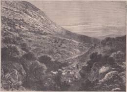 PALESTINE. Les Pentes Du Thabor. 1892 - Vieux Papiers