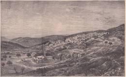 PALESTINE. Vue Générale De Nazareth. 1892 - Vieux Papiers