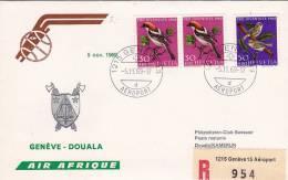 GENEVE /  DOUALA  -  Cover _ Lettera  -  AIR AFRIQUE - Airmail