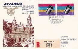ZURICH  /  AVIANICA - BOGOTA  -  Cover _ Lettera - BOEING 707 - AVIANICA - Airmail