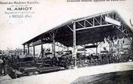 60 OISE BRESLES STAND DES MACHINES AGRICOLES H AMIOT CONCOURS AGRICOLE DE PARIS 1907 AGRICULTURE - France