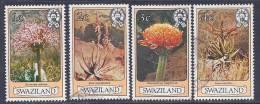 Swaziland, Scott # 346-9 Used Flowers, 1980 - Swaziland (1968-...)