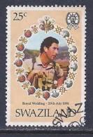 Swaziland, Scott # 383 Used Royal Wedding, 1981 - Swaziland (1968-...)