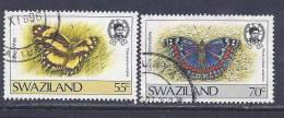 Swaziland, Scott # 514-5 Used  Butterfly, 1987 - Swaziland (1968-...)