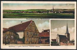AK Wolkshausen 1936 Gaukönigshofen Kreis Würzburg Unterfranken Bayern, Gasthaus Z. Lamm - Germany