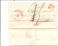 Br-4587   Voorloper COURTRAI 1842  Naar ST GENOIS ,aankomsstempel AVELGEHEM   +++   APRES LE DEPART - 1830-1849 (Belgique Indépendante)