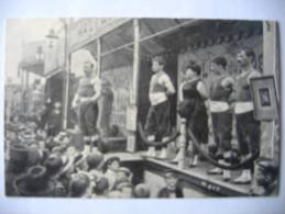 Carte Postale (repro) PARIS Les Hercules (lutteurs De Foires) - Circo