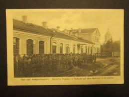 21.6.1916 Wirrballen Deutsche Truppen In Russland EYDTKUHNEN Gestempelt - Weltkrieg 1914-18