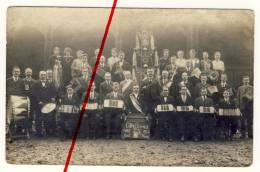 PostCard - Original Foto - 1922 - Chemnitz Borna Orchester Konzertina Akkordeon Bandoneon - Gut Ton - Chemnitz