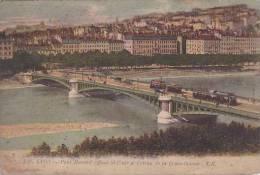 France Lyon Pont Morand Quai St Clair et Coteau de la Croix Rous