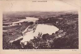France Lyon Pont de la Mulatiere Jonction du Rhone et de la Saon