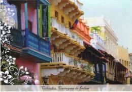 Lote PEP396, Colombia, Postal, Postcard, Pre Franqueada, Cartagena, Balcon - Colombia