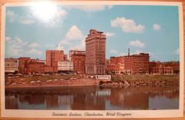 USA : Business Section, Charleston, West Virginia - Running North From Kanawha River - Charleston