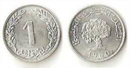 Tunisia  1 Millim 1960 - Tunisia