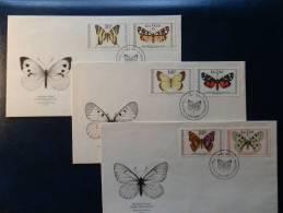 31/221   3  FDC   CESKOSL. - Butterflies