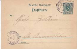 POSTKARTE  --  1897  --  BAHNSTEMPEL   MAGDEBURG -   -  ZUG 379  -  GROSSAMMENSLEBEN - Germany