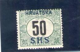 CROATIE 1919 TAXE * - Croatia