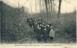 Givry - Pensionnat St-Joseph - Groupe D'élèves à La Descente Du Camp Romain -1924 ( Voir Verso ) - Quévy