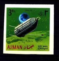 Ajman / Adschman: ´Moon Probe Luna-10 - Ungezähnt - Imperforated, 1968´, Mi. 265 B; Yv. PA 31 **