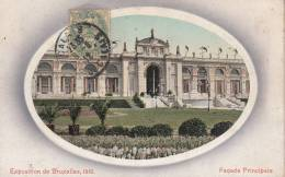 BRUXELLES - EXPOSITION DE BRUXELLES 1910 FACADE PRINCIPALE  VG   BELLA FOTO D´EPOCA ORIGINALE 100% - Cartoline