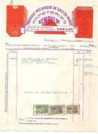 Thulin - 1955 - Papeteries Semoulin - Fabrique Mécanique De Sacs En Papier - Printing & Stationeries