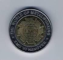 """BI-Metall Token SCHULER, 26 Mm, """"EMO 1993 Hanover"""" UNC, RRRRR, SCHULER PRESSES, Scarce - Alemania"""