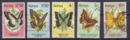 ## Kenya 1988 Mi. 422, 423-26, 428 Schmetterling Butterfly Papillon - Kenia (1963-...)