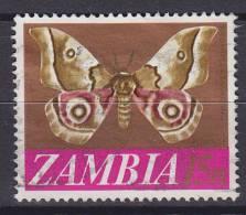 ## Zambia 1968 Mi. 45      15 N Schmetterling Butterfly Papillon - Zambia (1965-...)