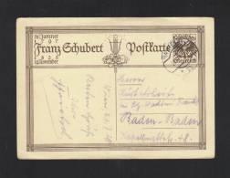 Schubert GSK 1928 Gelaufen - Ganzsachen