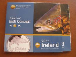 IRLANDA 2011 Cartera Con Serie Euro 8 Monedas , Euroset , Bimetalica 2 , Bimetalic - Irlanda