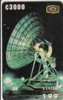 COSTA RICA - Earth Station, Comunicacion Con El Mundo, ICE Tel Prepaid Card C 3000, 04/00, Used - Costa Rica