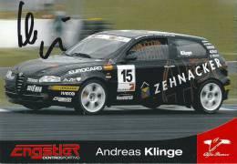 Andreas Klinge, Alfa Romeo Autograph - Motorsport