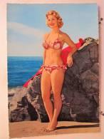 Belle Pin-Up En Bikini - 1960 - Scan Recto-verso - Pin-Ups