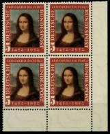 BRD 1952 Nr 148II Postfrisch VIERERBLOCK ECKE-URE 784DEA - [7] Federal Republic