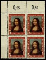 BRD 1952 Nr 148II Postfrisch VIERERBLOCK ECKE-OLI 784DEE - [7] Federal Republic