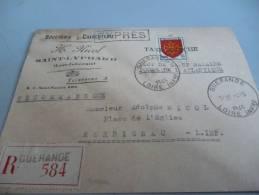 RECOMMANDE DU 4/5/45 GUERANDE  ILOT DE SAINT NAZAIRE TAXE PERCUE - France