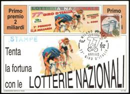 CYCLING - ITALIA MILANO 1994 - 77° GIRO D´ITALIA - ARRIVO - CARTOLINA LOTTERIA NAZIONALE - Ciclismo