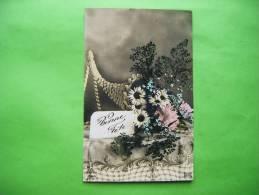 Bonne Fete-corne D´abondance Fleurs Marguerite Editeur Lilas 7653. - Autres