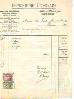 Jumet - 1946 - Imprimerie Hosdain - Imprimerie & Papeterie