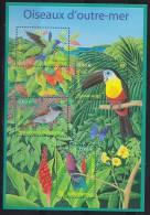 =BF56 Nature Oiseaux Outre Mer Colibri Tête Bleue Toucan Ariel Terpsiphone De Bourbon Colibri Grenat 3548 3549 3550 3551 - Ungebraucht