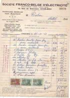 Charleroi - 1951 - Société Franco-belge D'électricité - Electricity & Gas