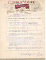 Mons - 1964 - F. Dessilly-Vasseur - Spécialités Cafés Crus Et Torréfiés - Vins Et Liqueurs - Alimentaire