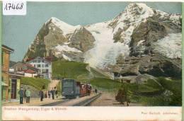 Station Wengernalp ,   Train    , Non  Circulé   Dos Simple - BE Berne